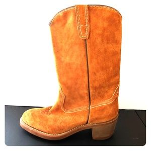 WOLVERINE western boots tan suede size 7.5M